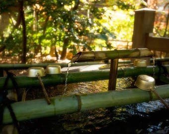 Tsurugaoka Hachimangu temizuya - Water Pavillion canvas gallery wrap