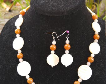 red and pink aventurine set