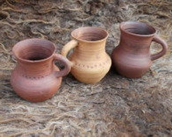 Slavic beakers in natural colors