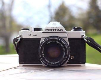 Vintage Pentax K1000 (Asahi), Telemetric Camera, Vintage Camera, Film Camera, Retro, 35mm
