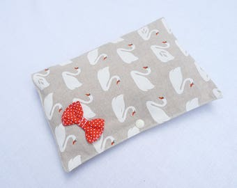 """Pocket diapers and wipes baby original """"Swans"""""""