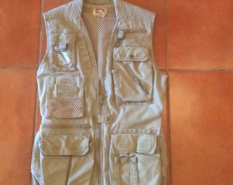 Vintage BANANA REPUBLIC Cotton Khaki Safari/Travel VEST