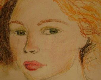 Ruby Lips- Art Print