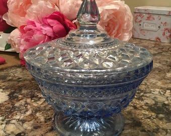 Vintage Ombré Blue Candy Dish