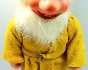 "U.S. Zone Germany 8"" tall Composition Gnome Figurine Dwarf Elf Christmas 1940's"