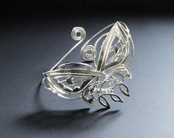 Elfish silver plated ethnic bohemian upper arm bracelet armlet