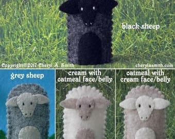Sheep Finger Puppet - Select a Color - Felt Sheep Puppet - Felt Farm Animal Finger Puppet - Felt Animal Finger Puppet Lamb