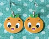 Orange Bird earrings (White)