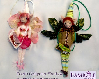 "E-Pattern -TOOTH FAIRY DOLL for boys & girls, Height -23 cm (9"") Tall, Teeth Keeper, Tooth Fairy Pouch, Michelle Munzone, Tutorial"