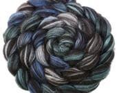 CTA SAL Pre-order - Handpainted Baby Alpaca/Silk Roving - 4 oz. Denali - Spinning Fiber