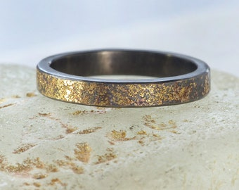 Stardust Ring | Sterling Silver and 18ct Gold | Handmade in the UK