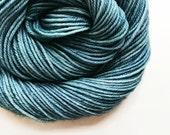 slate / hand dyed yarn / fingering sock dk bulky yarn / super wash merino wool yarn / single or ply/choose base/ medium blue grey yarn