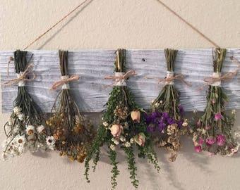 flower rack, country home decor, farmhouse decor, dried flower rack, primitive decor, kitchen decorating