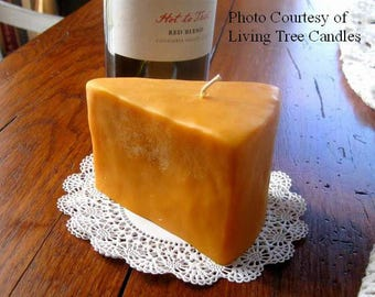 Cheese Cheddar Wedge Faux Fake Food Kitchen Primitive Silicone Mold Prim DIY Craft Mold Beeswax Americana Prim Original Beeswax Soap Candle