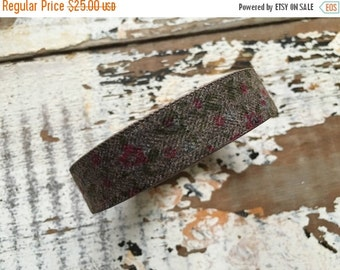 FLASH SALE- Custom Floral Fabric and Leather Cuff-Create Your Own-Word Cuff