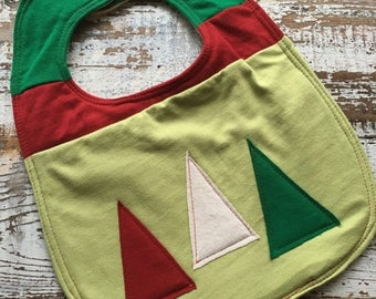 40% OFF- Christmas Tree Bib-Wee Ones Bib-Tshirt Collection-Toddler Size-Modern Christmas