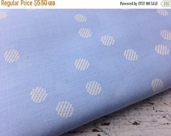 40% OFF- Blue Polka Dot Fabric--Poly Cotton Blend