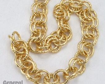 6.8mm Bright Gold Double Link Cable Chain #CC227