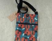 Fiddle and Daisy Print  Hip Bag/ Shoulder Bag