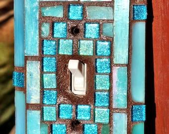 Key West Mosaic ART light switch cover Beautiful colors