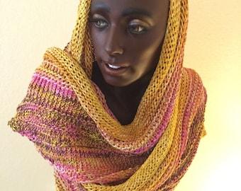 Silk Hand Knitted Heavy Shawl