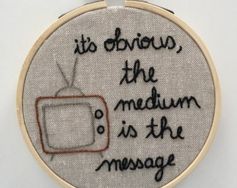 Hand Embroidery, Canadian Heritage Minutes, Marshall McLuhan