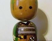 Vintage Japanese Kokeshi Doll Boy Large Bobble Head Nodders