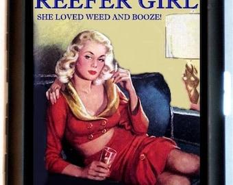 Reefer Girl Cigarette Case Business Card Case Wallet Dope Reefer Weed Pot