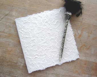 Softcover Guest Book, Textured Mulberry, unlined TORN pages, Ready to Ship
