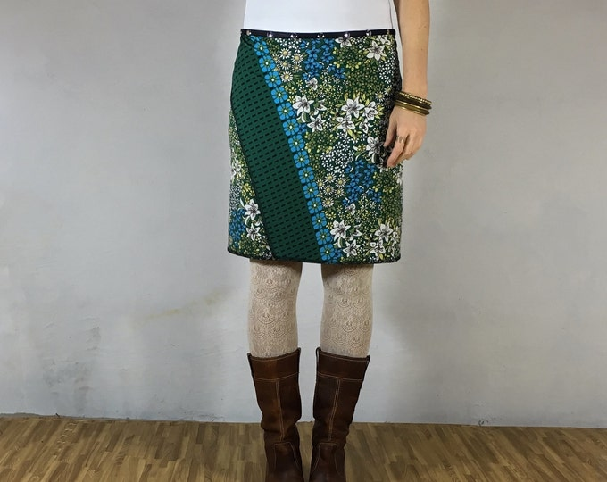 Snap Around Skirt, Green Classic by Erin MacLeod
