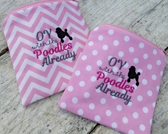 Gilmore girls pouches. Oy with the poodles already! Gilmore girls pink purse set. Pink polka dots or chevrons. Gift idea.