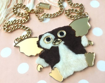 Gizmo The Gremlin Laser Cut Acrylic Necklace