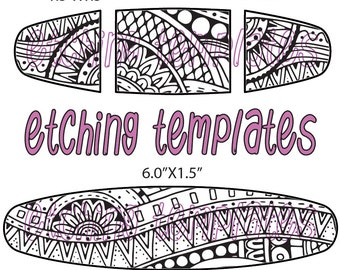 Combo Digital Pattern for Etching Ethnic Cuff, Earring, Ring Download -DT-SS-9970-1