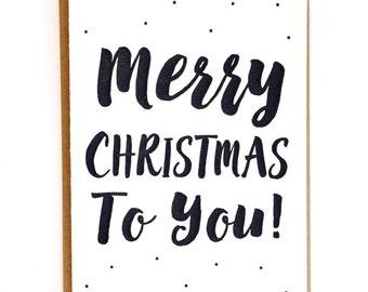 Merry Christmas Card for Husband Christmas Card for Boyfriend Christmas Cards Handmade Christmas Cards Letterpress Christmas Cards for him