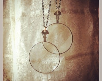 MYSTERIEUX Necklace.....Vintage Optic Lens