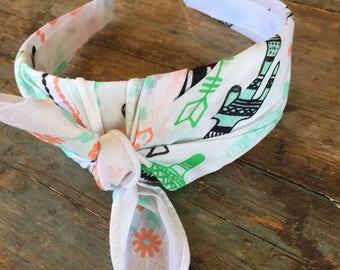 Cactus Knot Tie Headband Bandanna Head Wrap Rock Fashion Headband