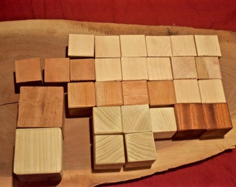 Odds & Ends - Set of Mixed Wood Blocks