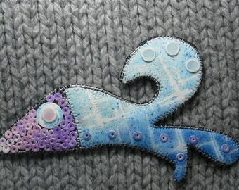 Blue Fish brooch