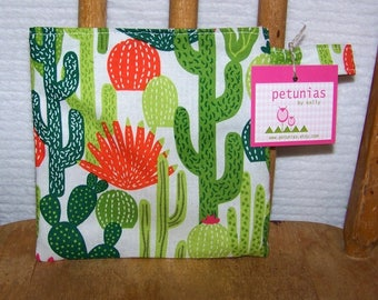 Reusable Little Snack Bag - pouch adults kids cactus eco friendly by PETUNIAS
