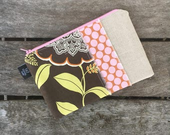 New Olive Laceworks Zippered Pouch
