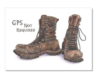 Travelling Boots Archival Print