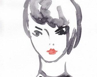 Girl with black choker