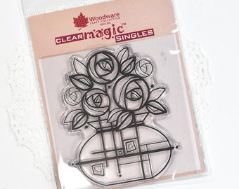 Deco Roses Clear Stamp Woodware Stamps