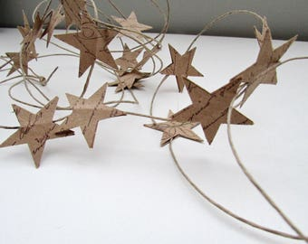 Paper Star Garland Christmas Tree Decor 8'