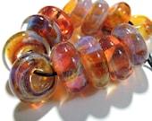 Handmade Lampwork Glass Borosilicate Beads SLIDES Two Sisters Designs 041117C