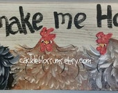 "5.5"" x21"" Chickens Make Me Happy Original Painting"