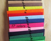 Nicole's BeadBacking 9x6 full set 17 colors Bead Foundation Textiles Fabric Material
