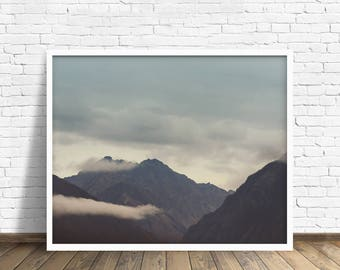 "mountain landscape, landscape wall art, large art, large wall art, fine art photography, colorful, art prints, art print - ""Ancient Valleys"""