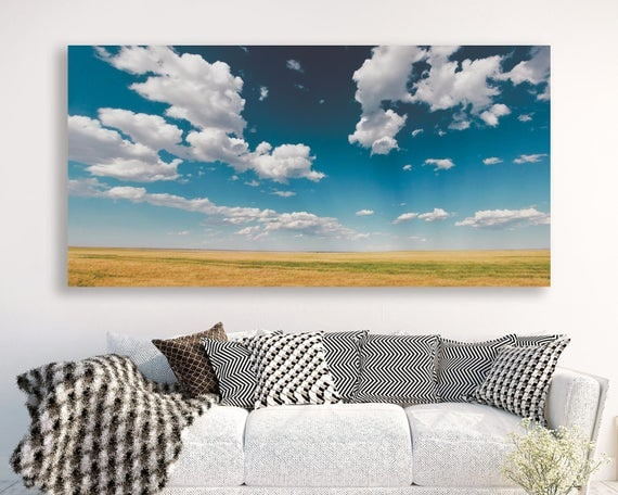 """large colorful landscape, large canvas wall art, large landscape wall art, landscape on canvas, prints - """"Heaven is a Field on a Summer Day"""""""