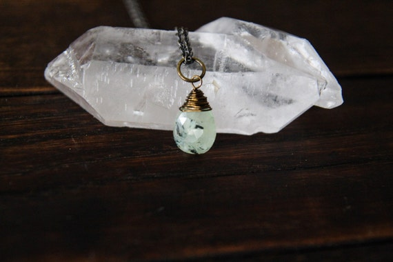 inner knowing {prehnite intention necklace}